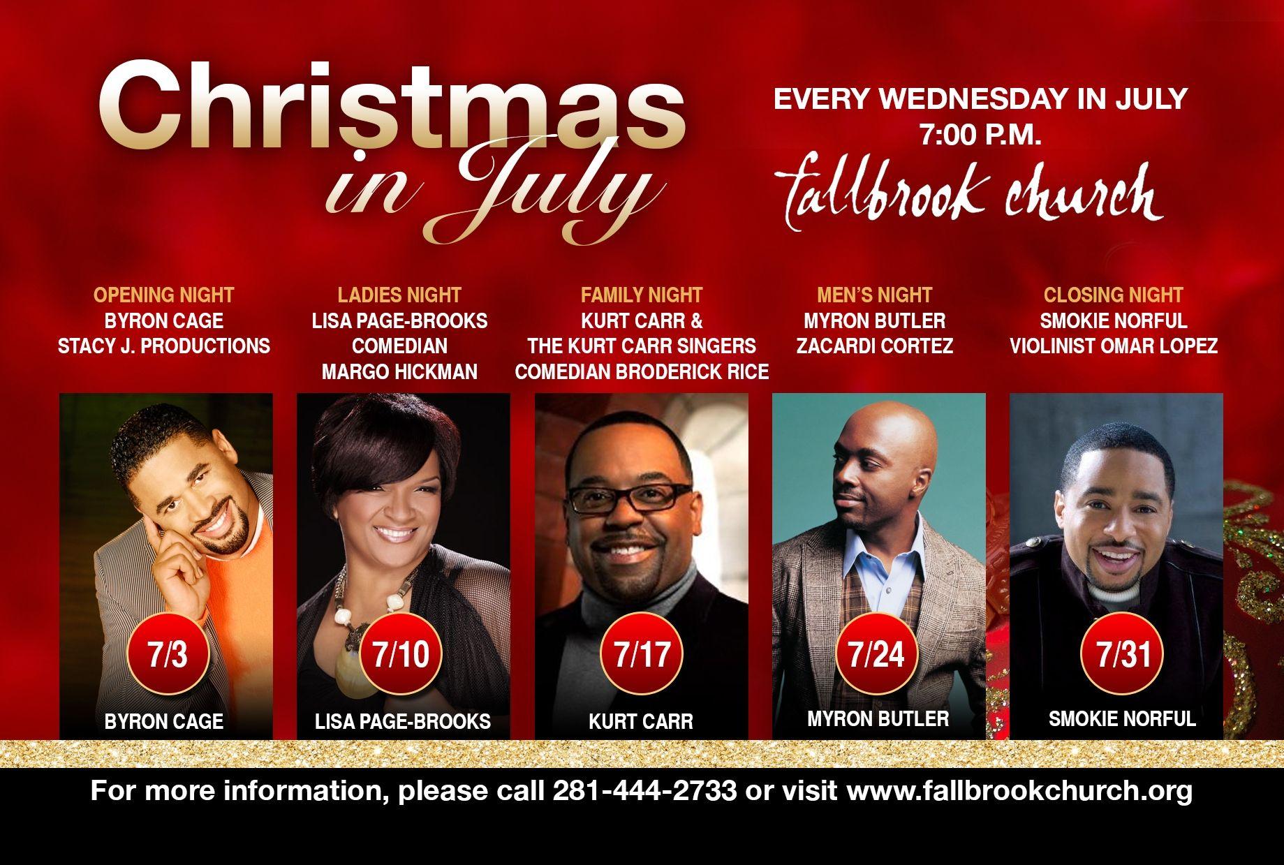 Fallbrook Church Christmas In July 2020 Fallbrook Church | | Family night, Church, Empowerment