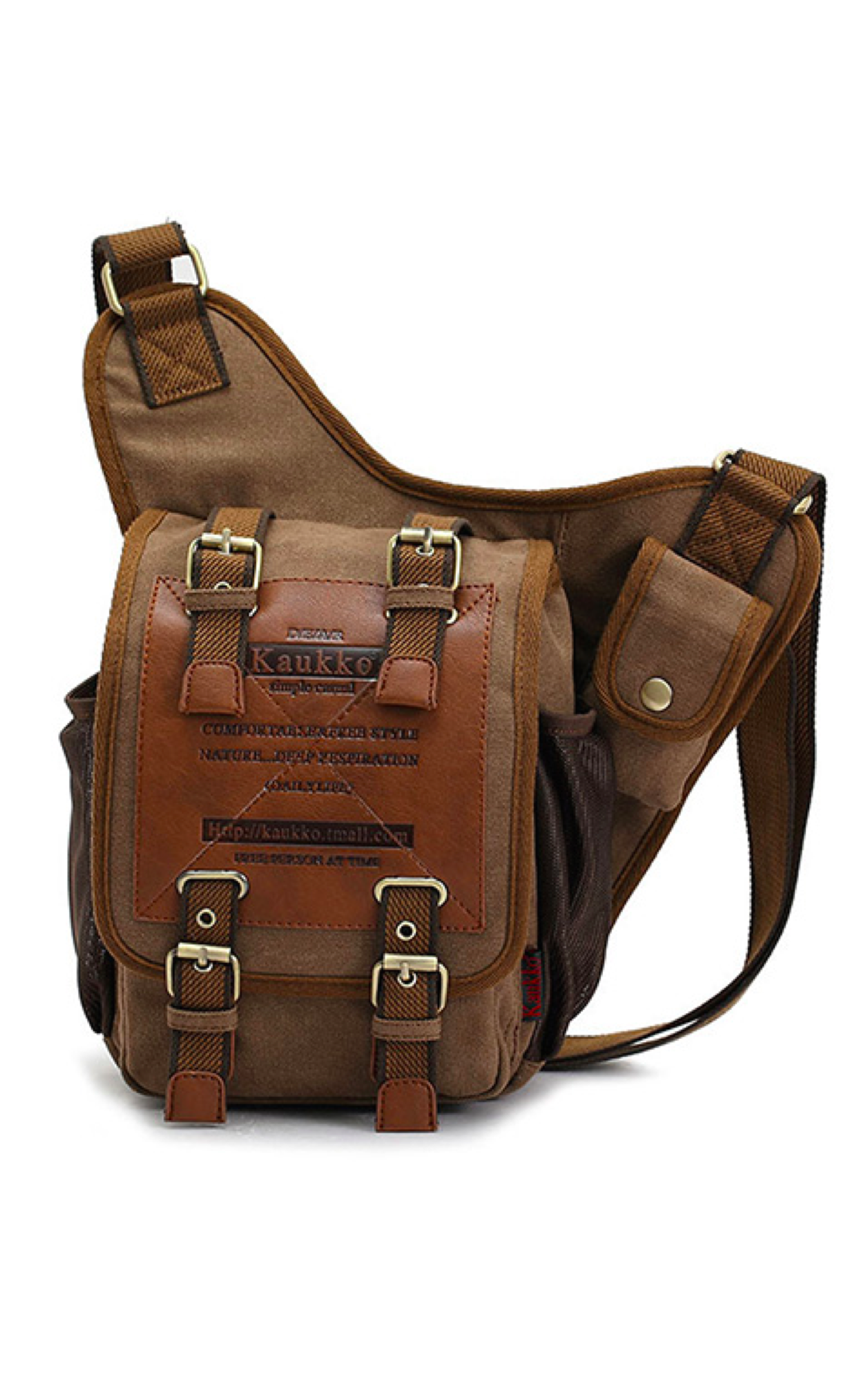 ccd6574d602f This men s vintage canvas military crossbody messenger bag has a military-inspired  design and features multiple compartments and pockets for carrying ...