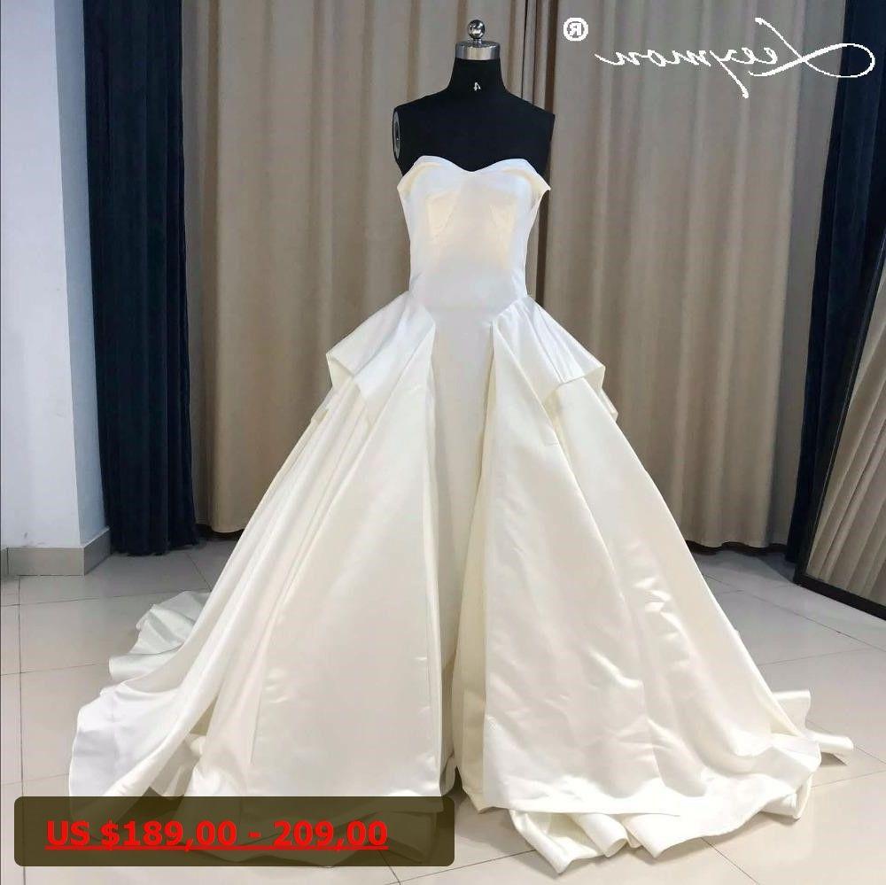 Simple wedding dresses cheap   Simple Ball Gown Wedding Dresses Vintage Tiered Vestidos De