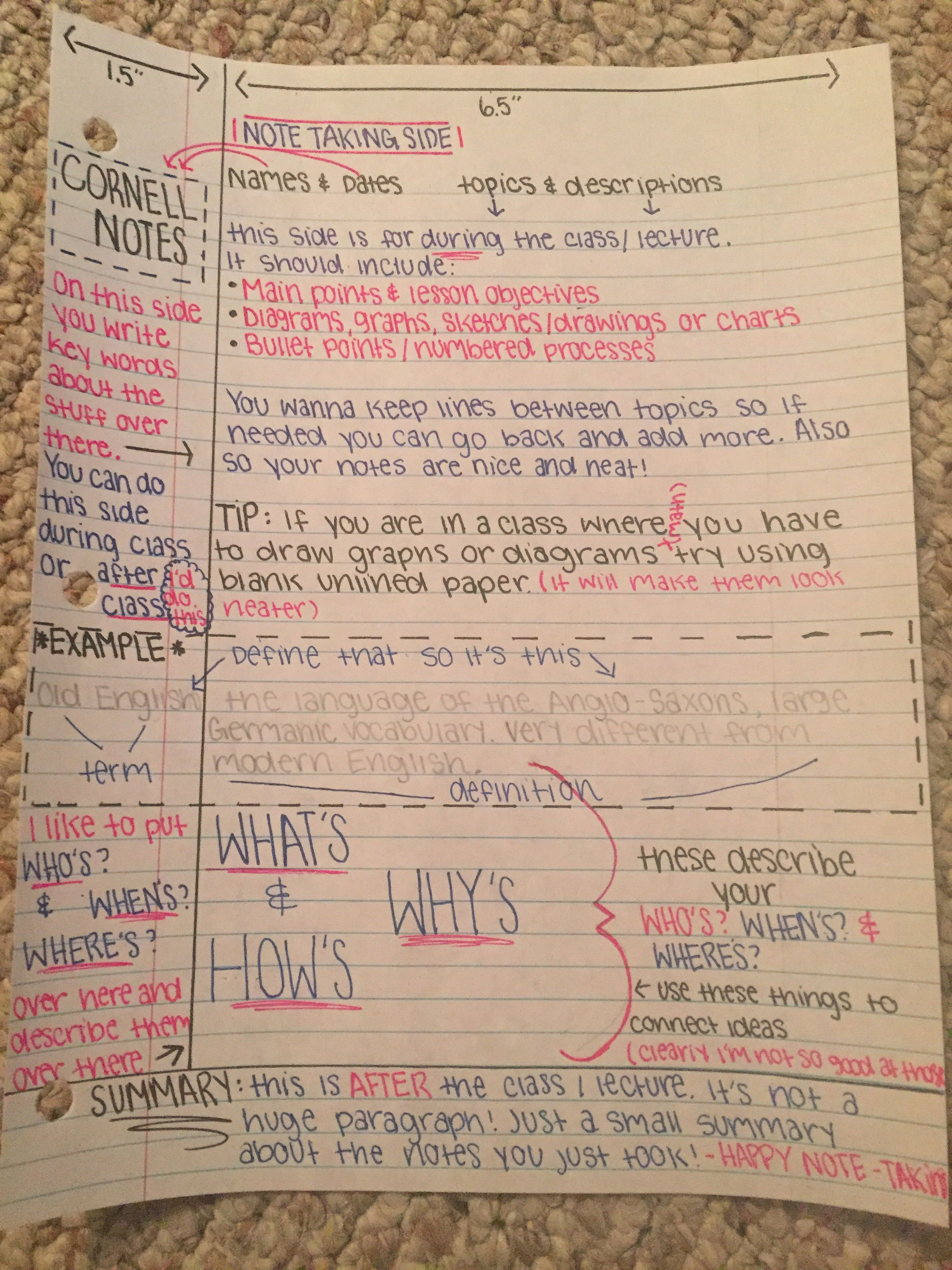 The Best Way To Organize Your Cornell Notes
