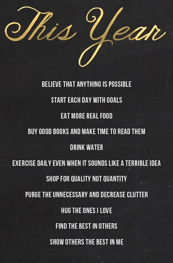 goal new year saying