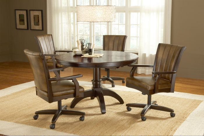 Dining Room Chairs On Wheels Photo Alluring Leather Dini With Images Swivel Dining Chairs Dining Room Chairs Upholstered Dining Room Sets