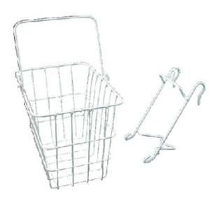 Wald 114 Compact Quick-Release Front Handlebar Bike Basket (White)