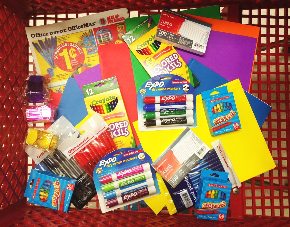 Office Depot BackToSchool Haul  Items For   Value