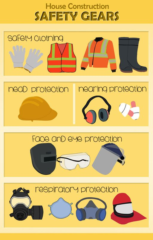 House Construction Safety Gears Construction Safety Home Construction Construction