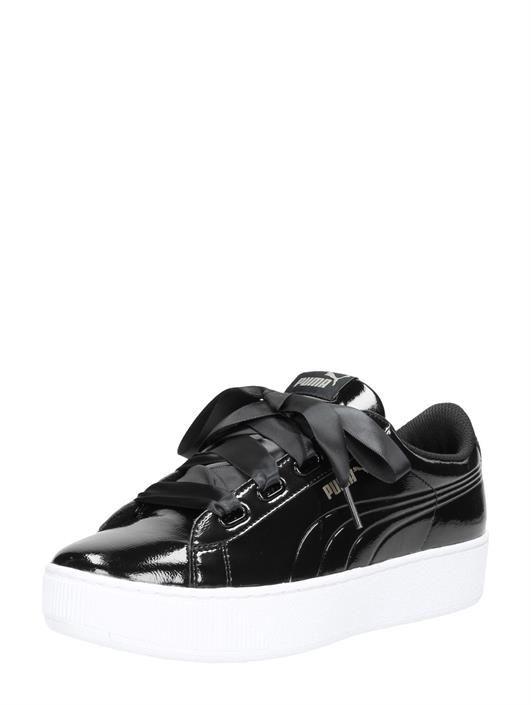 Puma Vikky Platform Ribbon zwart lak   Sneaker, Plateauzolen ...