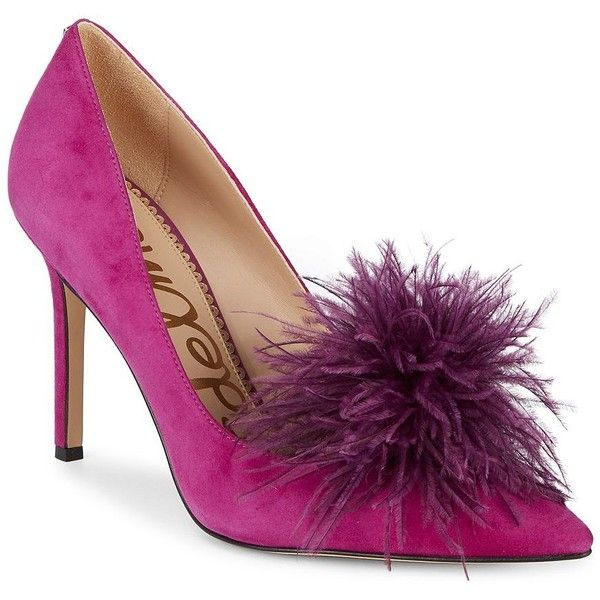 82da3183e62ae Sam Edelman Women s Haide Feather Suede Pumps ( 130) ❤ liked on Polyvore  featuring shoes