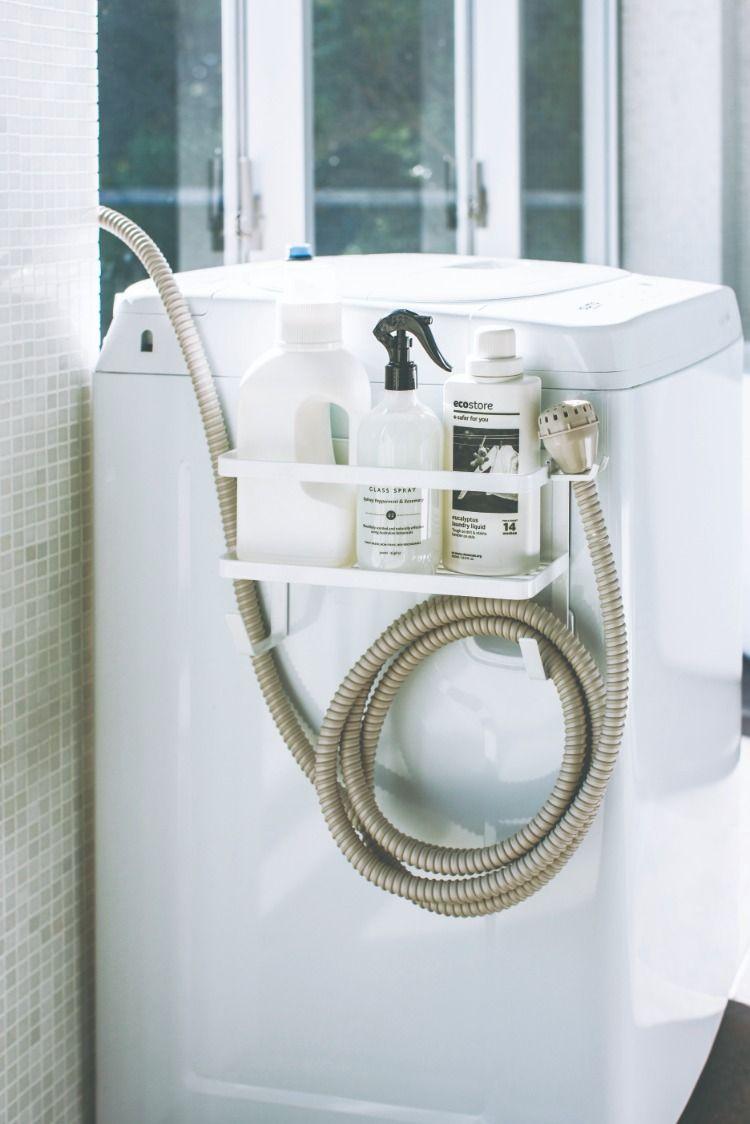 ホースホルダー付き洗濯機横マグネットラック タワー 2020 ホース収納 洗濯機 マグネット 収納