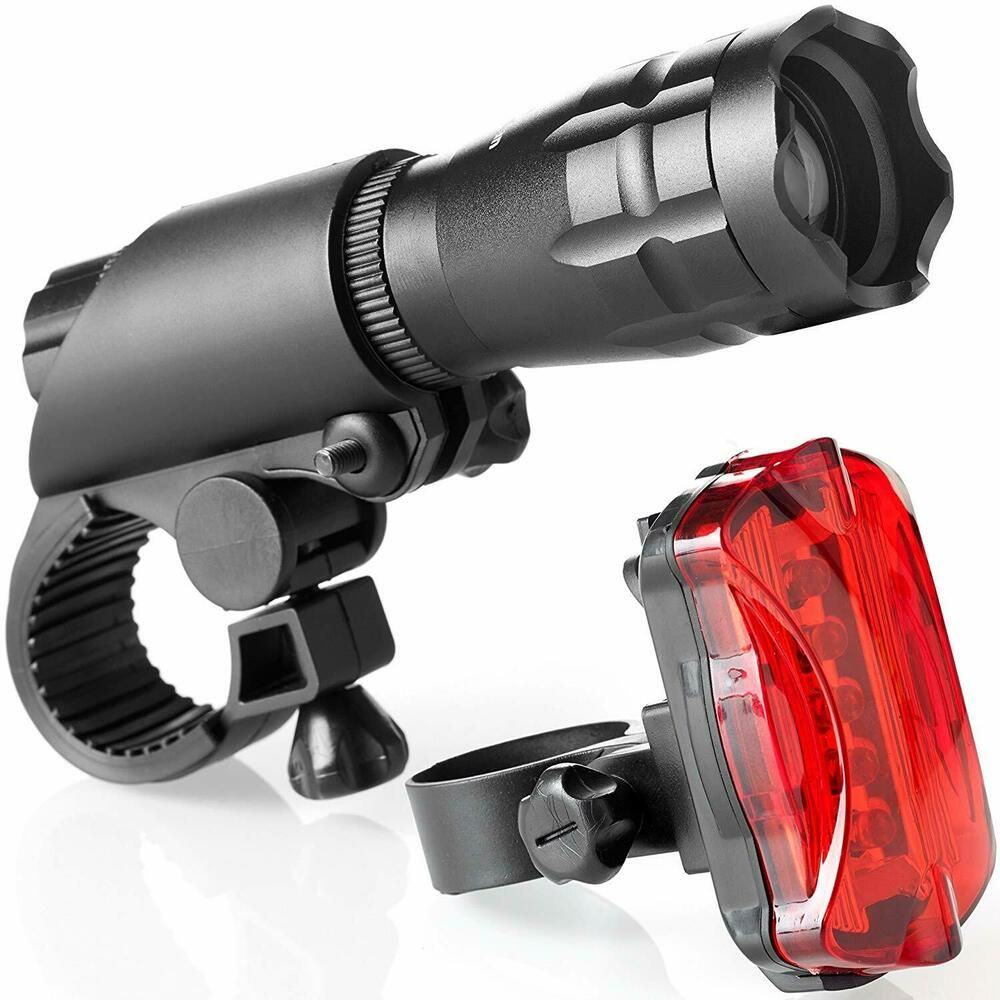 Details About Bike Light Set Led Mount Quick Release Headlight And Taillight Cycle Lighting Bike Lights Bicycle Lights Bicycle Headlight