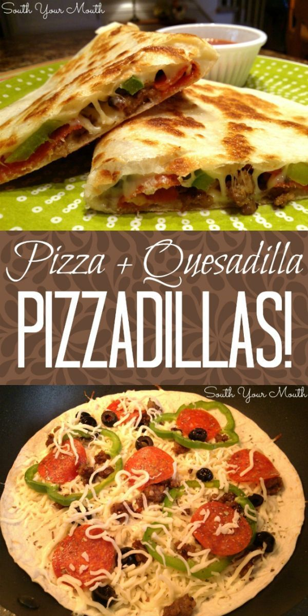 A cross between a PIZZA and a QUESADILLA, this is a super quick and easy recipe for weeknight meals or hot lunches that takes all your favorite pizza toppings and cooks them in a skillet on a tortilla. #Easy Recipes pizza Pizzadillas