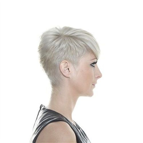 Short Shaved Hairstyles vogue short hairstyles with long bangs Shortshavedpixiehaircuts Pixie Hairstyle Looks Adorable On Young Girls
