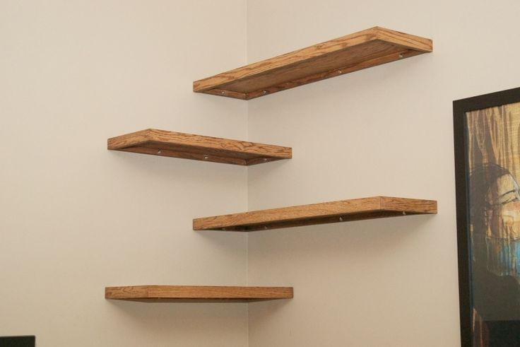 sports shoes 13193 86fb4 offset wooden wall shelves at the corner #corner #offset ...