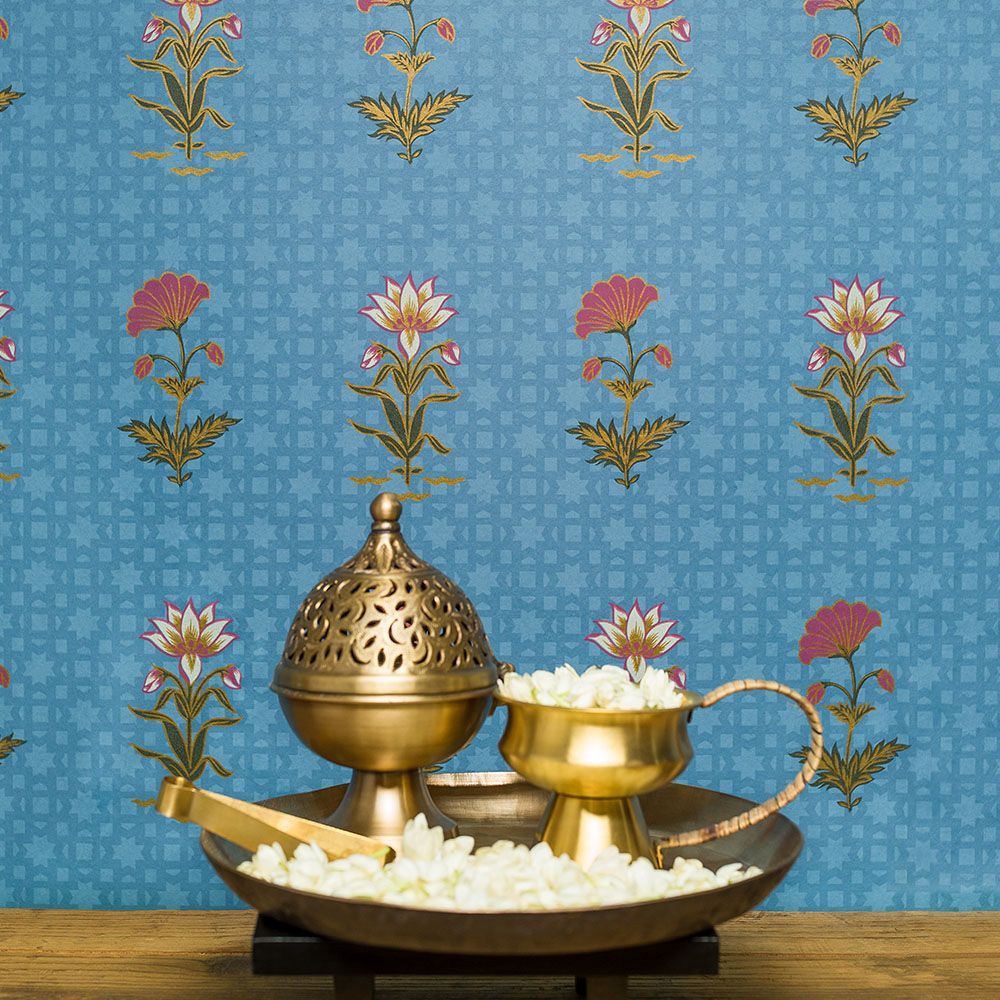 Bagh E Noor Charbagh By Good Earth For Nilaya Step Lightly Into A Mughal Wallpaper Decorhome