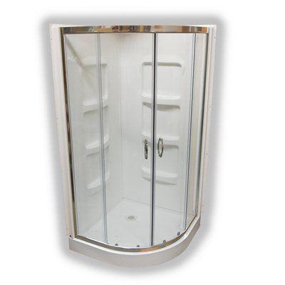 Au0026E Bath U0026 Shower Nevada NR38 38 In Acrylic Neo Round Shower Corner Kit