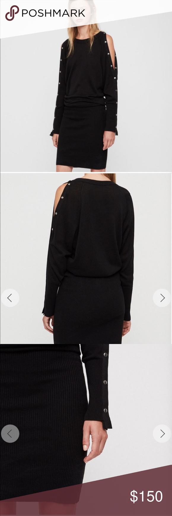 add48e2f60e AllSaints Suzie Snap Sleeve Dress NWOT All Saints Dresses Long Sleeve