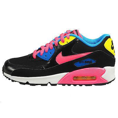 Nike Air Max 90 Ltr Gs Big Kids 724852 004 Black Pink Blue