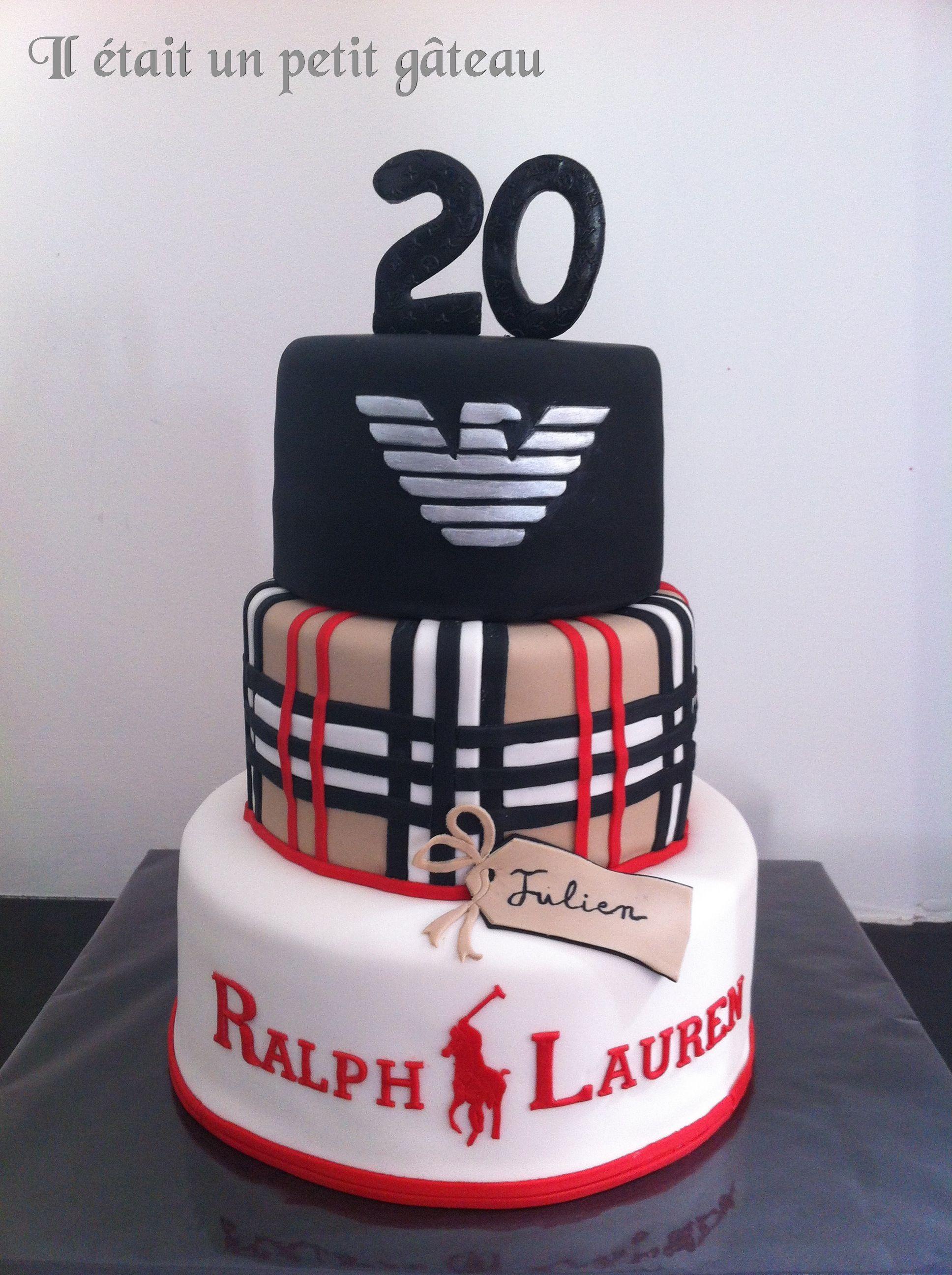 Burberry cake, armani cake, Ralph lauren cake, Gâteau armani , burberry ,  Ralph… 161f9c3d5ab
