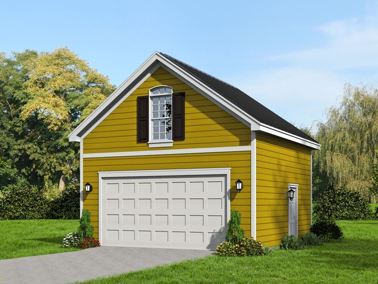 062G-0061: 2-Car Garage Plan With Loft And Traditional