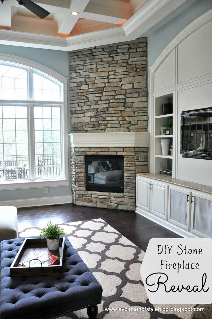 Tv In Corner Of Room Design: Fireplace In Corner, Tv In Built-ins