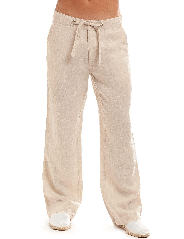 Camel Linen Beachcomber Pants Men S Beach Clothes Linen Pants