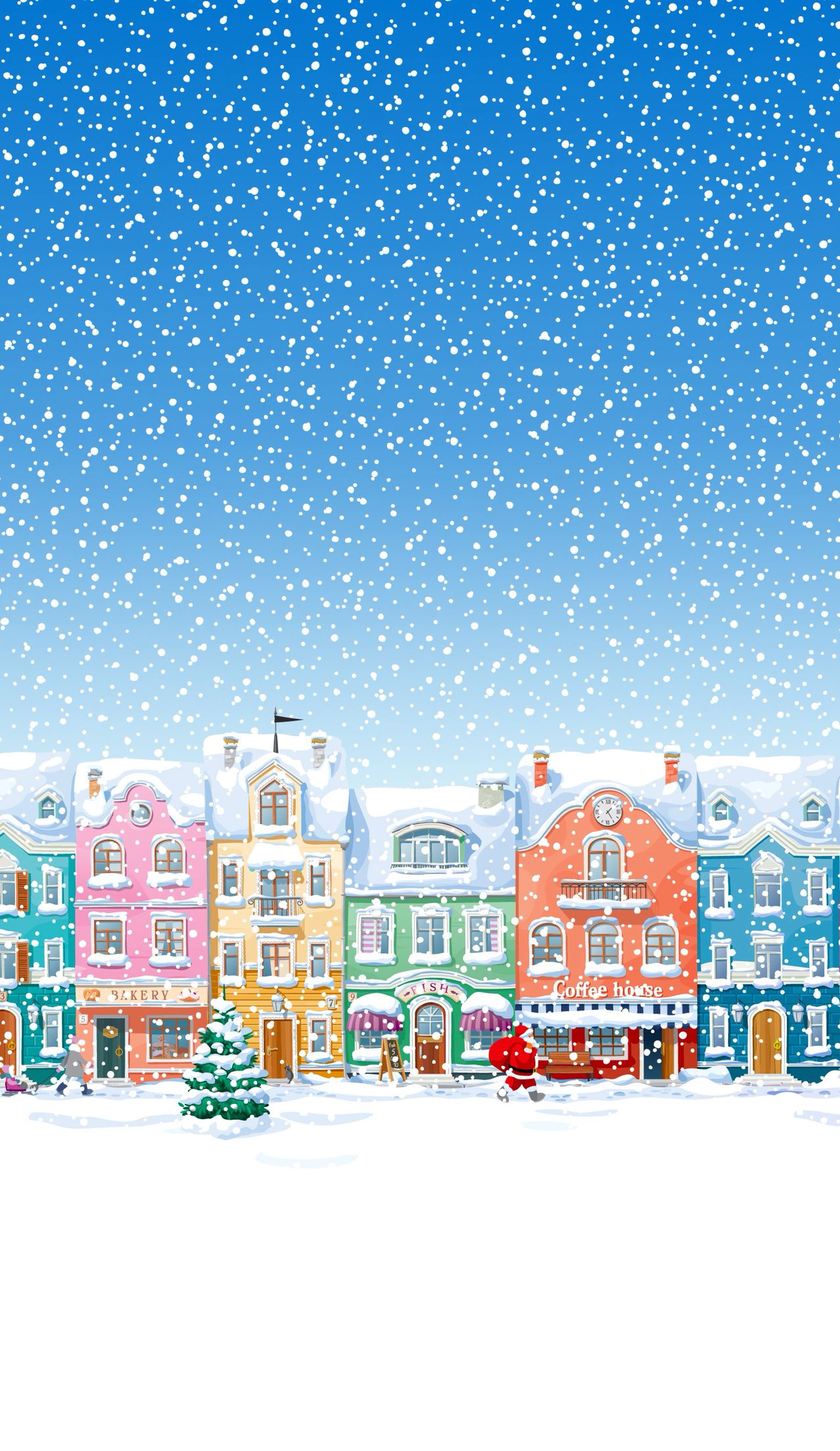 Winter Village ★ Find more Seasonal wallpapers for your