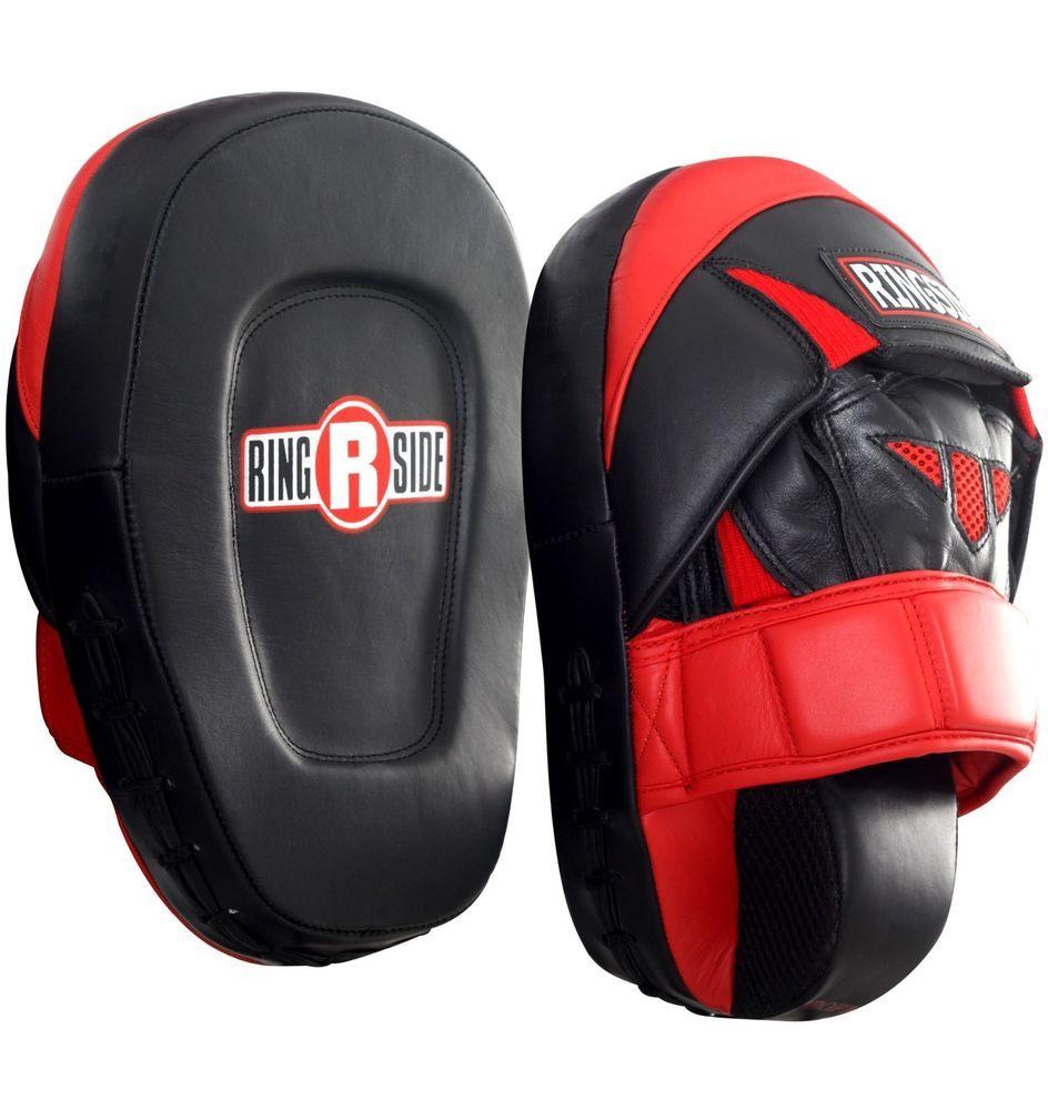 1 Set MMA//Muay Thai//Taekwondo//Kicking Pad Curved Punch Pad Punch Mitts Black