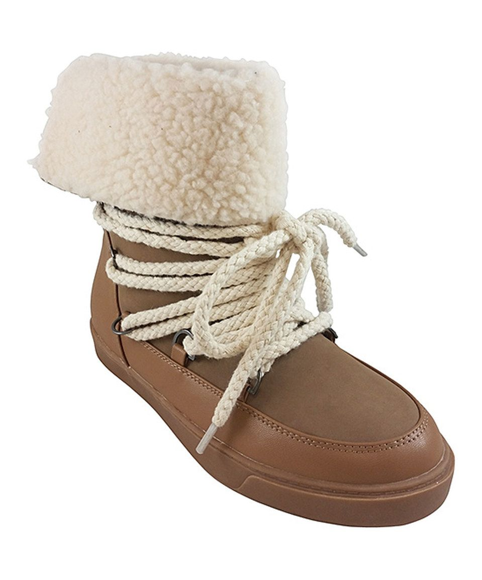 Look at this #zulilyfind! Bumper Taupe Cuffed Nakia Boot by Bumper #zulilyfinds