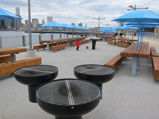 Picnic Peninsula At The Brooklyn Bridge Park Brooklyn Bridge Park Nyc Park Parking Design