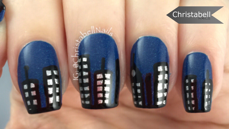 Simple New York Skyline Nail Art Tutorial   NaIlS nAiLs & MoRe NaIlS ...
