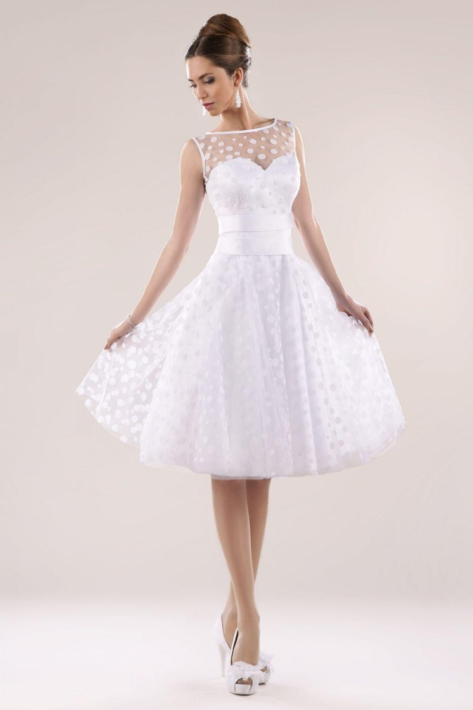 Rockabilly Brautkleid mit Punkten Maßanfertigung - Kleiderfreuden