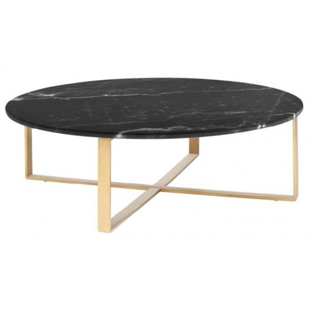 Rosa Coffee Table Black Gold Black Marble Coffee Table