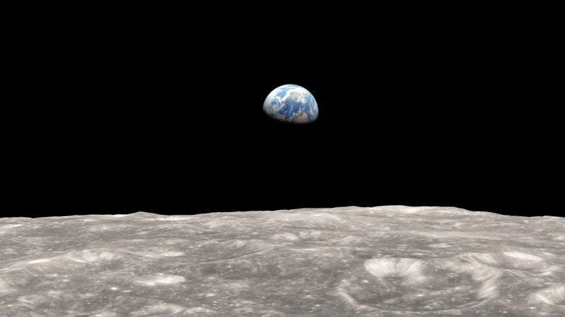 #Earth from the #Moon