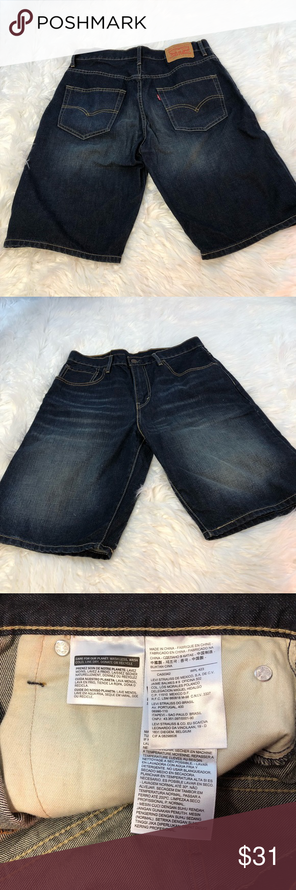 Levi s 569 Men s Denim Shorts Size 31 Up for sale is an awesome pair of  Levi s 569 Men s Denim Shorts Size 31. These preowned jeans are in good  clean ... cd3dd4d87c8