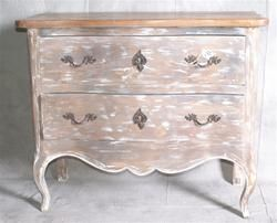 French Distressed Two Drawer Chest
