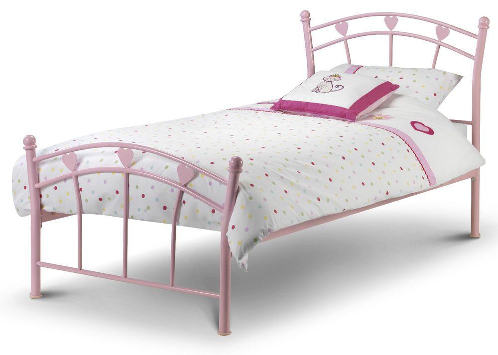 Best Single Bed Frame Bedroom Child Girl Princess Metal Pink 640 x 480
