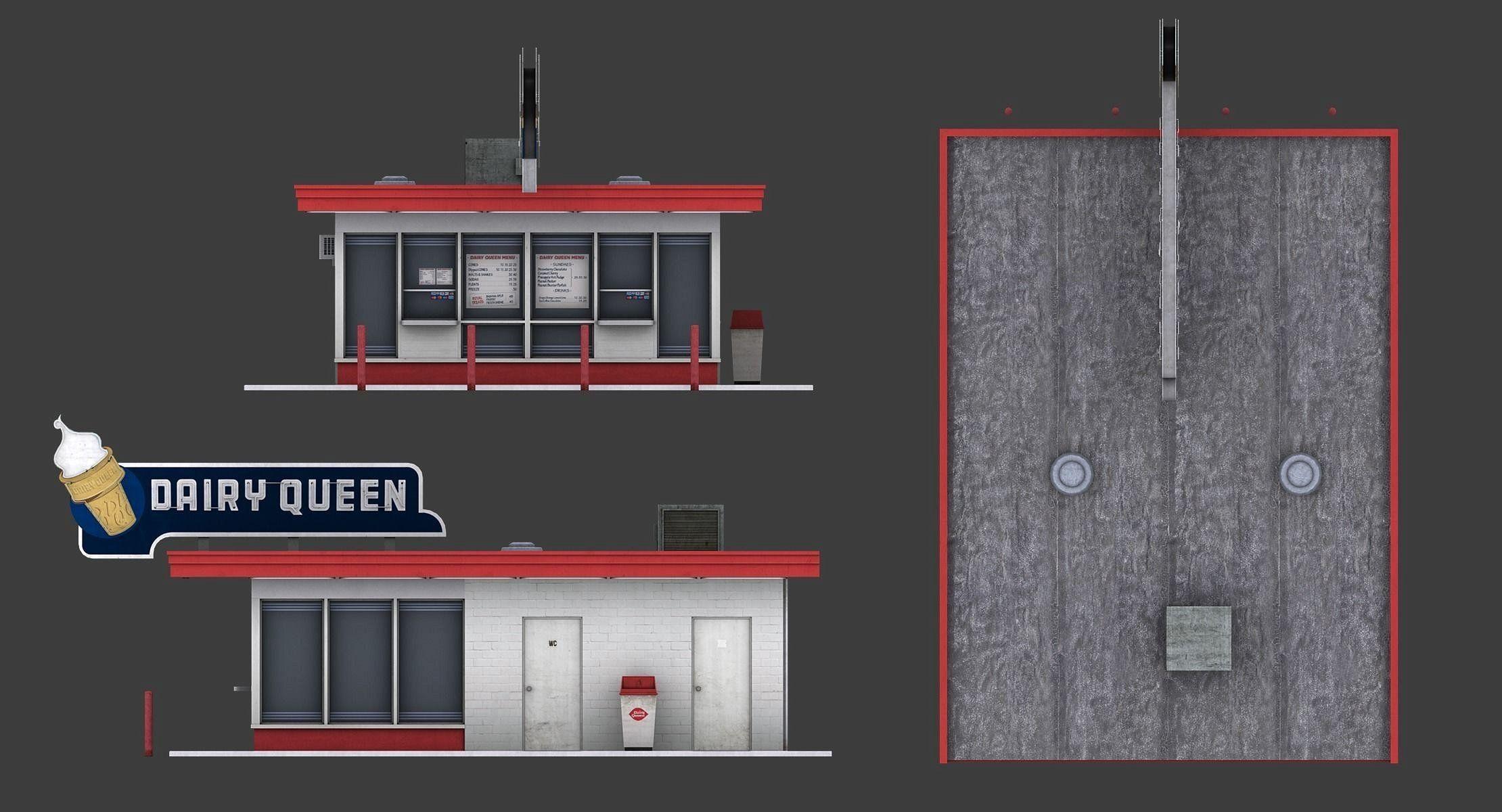 Dairy Queen Restaurant Dairy queen, Model building kits
