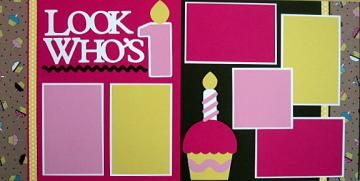 Look Who's 1 Do-It-Yourself Scrapbook Pagekit by DownMemoryLane for $7.00