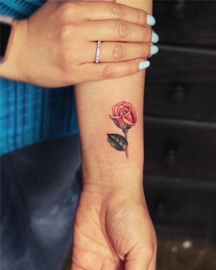 20 Pretty Rose Tattoo Ideas For Women To Copy 2020 Women Fashion Lifestyle Blog Shinecoco Com Rose Tattoo Design Rose Flower Tattoos Apple Blossom Tattoos