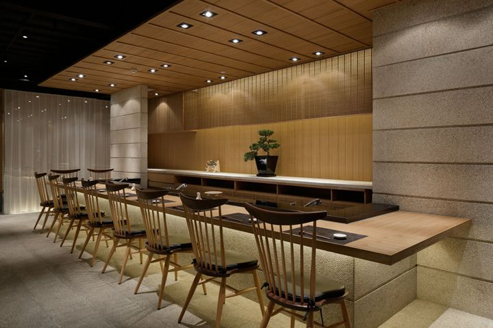 Sushi bar design on pinterest japanese restaurant