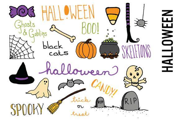 Halloween Doodle Clipart Halloween Doodle Cute Halloween Drawings Doodles