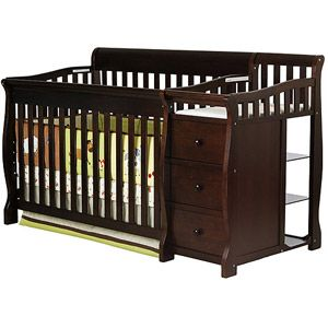 Dream On Me Brody 4 In 1 Fixed Side Convertible Crib And Changing Table Combo Espresso Online 299 99 Walmart Baby Cribs Cribs Crib And Changing Table Combo