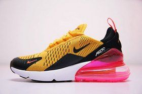 2fe9149bb5 Nike Air 270 Flyknit Yellow Pink AH8050-706 Women's Running Shoes Sneakers