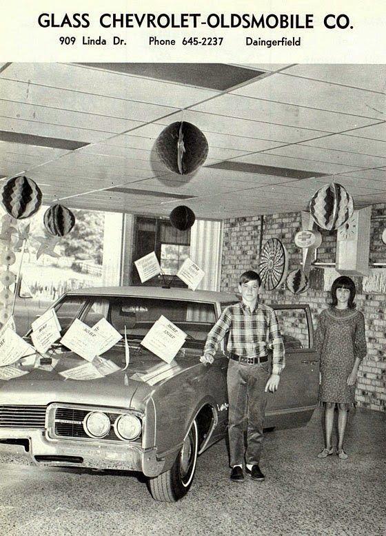 1960 S Glass Chevrolet Oldsmobile Company Dealership Daingerfield