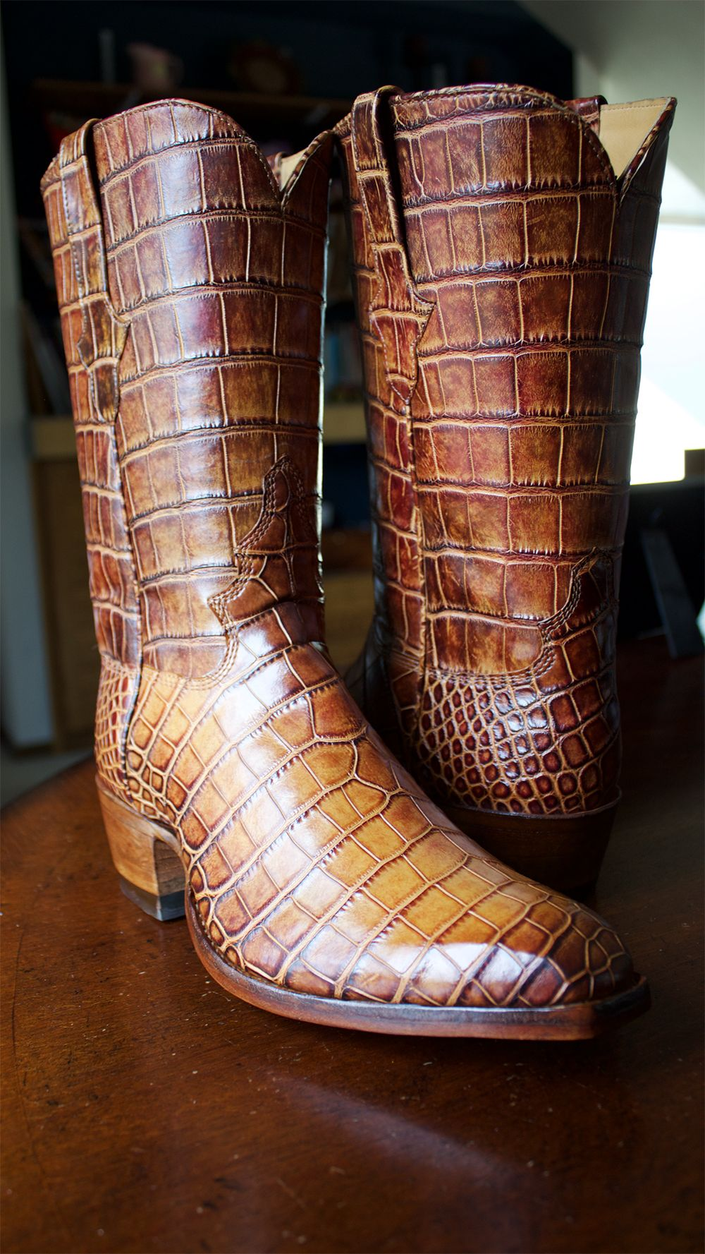 Boots in 2020 alligator boots high heel cowboy boots
