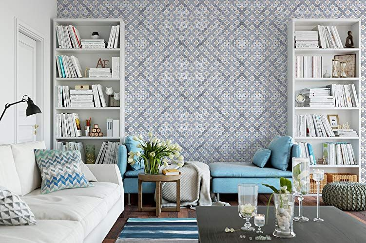 CostaCover Temporary Wallpaper Art Blue