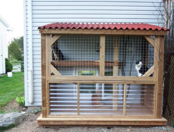 19 Cute Awesome Cat House Ideas Indoor Outdoor Diy Cat Enclosure Outdoor Cat House Outdoor Cat Enclosure
