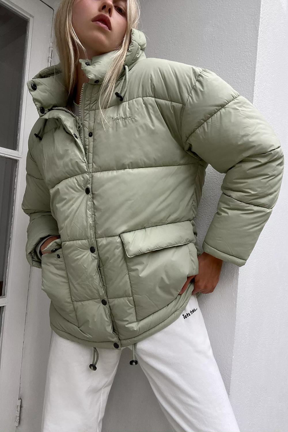 Iets Frans Hooded Midi Puffer Jacket Puffer Jacket Women Puffer Jackets Quilted Puffer Jacket [ 1502 x 1000 Pixel ]