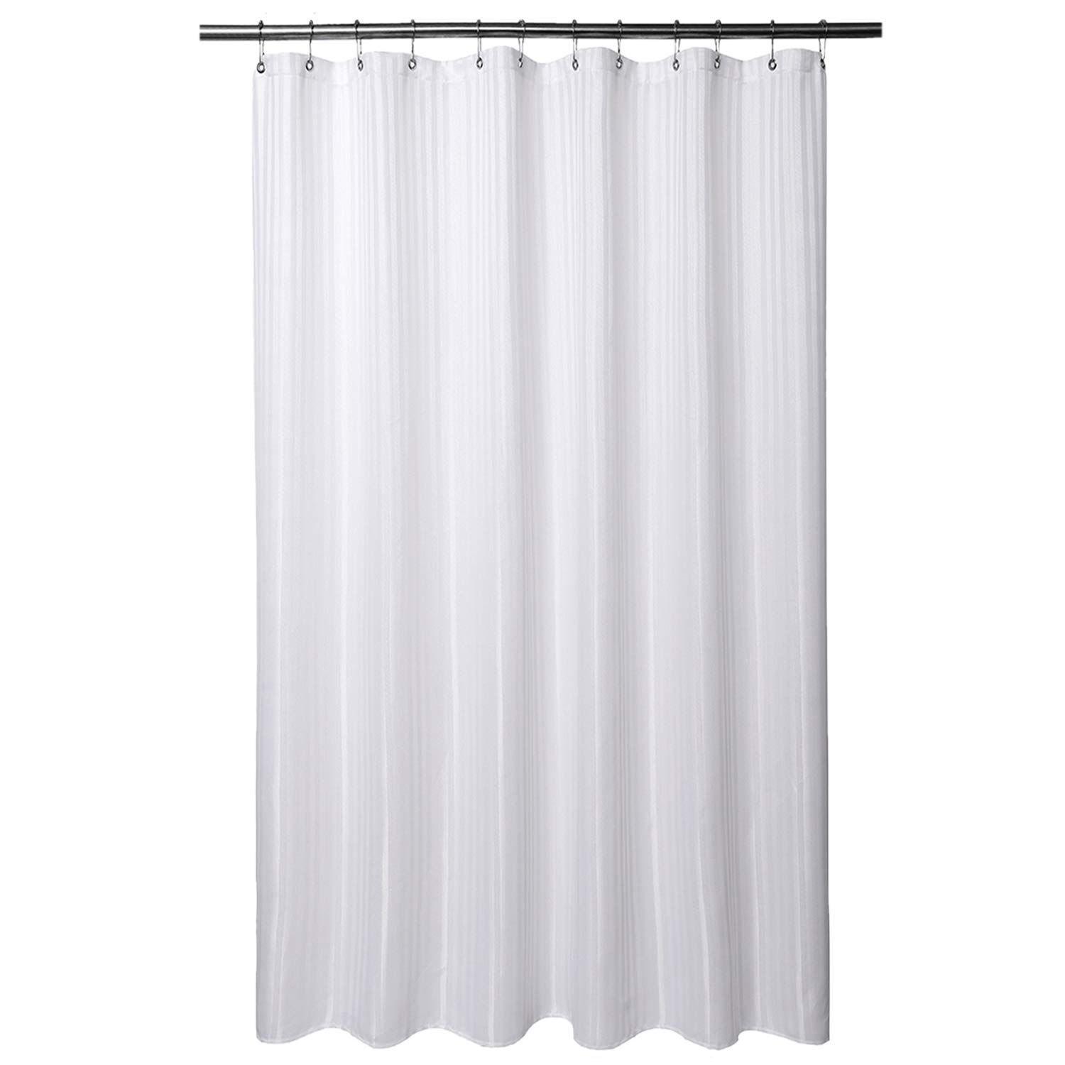 Barossa Design Fabric Shower Curtain 80 Inches Long Hotel Grade Machine Washable Water In 2020 Fabric Shower