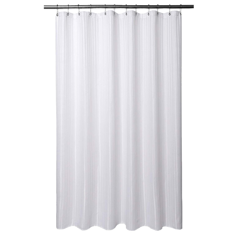 Barossa Design Fabric Shower Curtain 80 Inches Long Hotel Grade