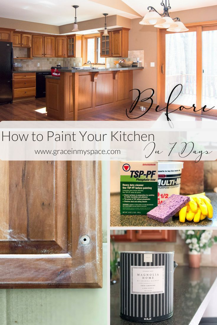 paint your kitchen cabinets in 7 days diy crafts home decor rh pinterest com